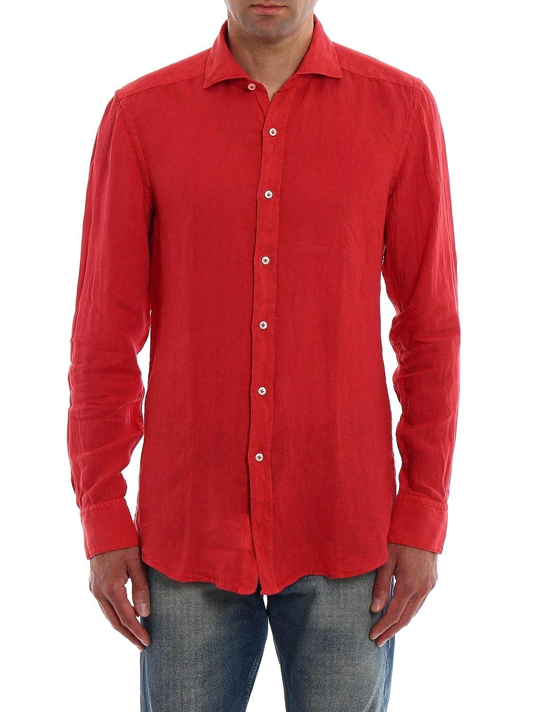 fay Luxury Fashion Mens NCMA136262THTKR602 Red Shirt Spring Summer 19