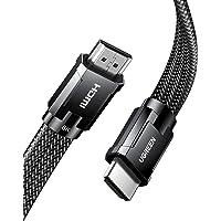 UGREEN Kabel HDMI 2.1 Nylon Flat Support Dolby, HDR10 +, eARC, 48Gbps, 3D, Kompatybilny z HDMI 2.0 a/b, 4K TV, PS5, PS4…