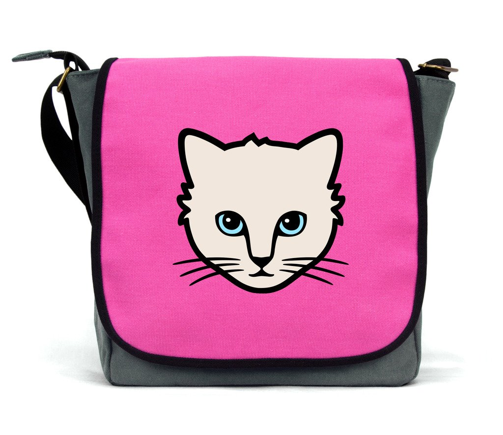 Cat Messenger Bag/Satchel | Blue | Waterproof Canvas | By Paw Prints