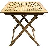 Grasekamp Teak Tisch 70x70cm Gartentische Bistrotisch Balkontisch Gartenmöbel