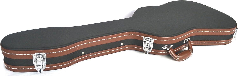 Funda rígida para Guitarra eléctrica con Forma de strat Ibánez, con Cabeza Inclinada, Acolchado y Forrado