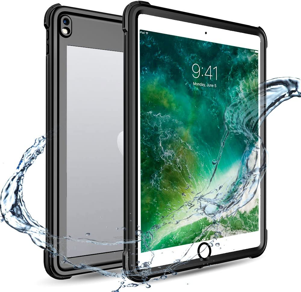iPad Pro 10.5 Waterproof Case, Full Body 360 Degree Protect Dustproof Shockproof Cover Case for Apple iPad Pro10.5 inch (2017 Version,Black) (Black)
