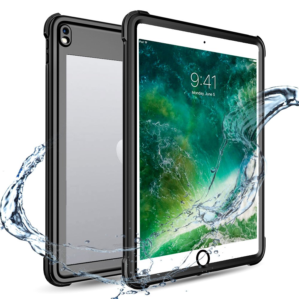 XBK iPad Pro 10 5 Waterproof Case, Full Body 360 Degree Protect Dustproof  Shockproof Cover Case for Apple iPad Pro10 5 inch (2017 Version,Black)