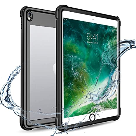 Amazon Com Ipad Pro 10 5 Waterproof Case Full Body 360 Degree