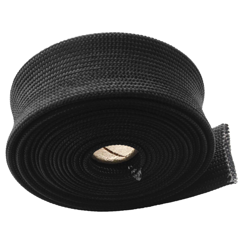 Fiberglass Heat Shield Sleeve 3//4 ID X 10 Adjustable Hose Heat Shield Spark Plug Wire Black Heat Shield Roll For Car Wire Loom Heat Shield Brake Line Cable Heat Shield