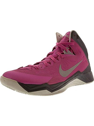 the latest 003b7 74bdb Amazon.com   Nike Women s Hyperquickness Pink Fire Ii Metallic Silver -  Dark Grey High-Top Basketball Shoe 12M   Basketball