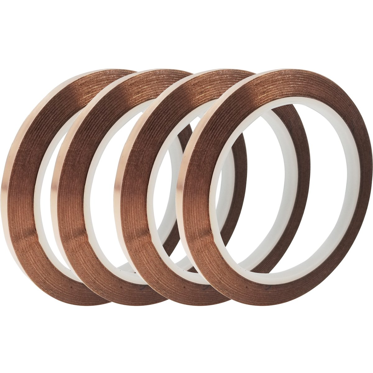 4 Rolls Strong Copper Foil Tape Double Sides EMI Shielding Conductive Adhesive Tape for Paper Circuits, Electrical Repairs, Grounding 1/4inch X 21.8yards SINYUM 4336904902