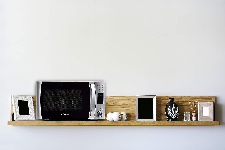 Candy CMXC30Dcs - Horno microondas combinado con grill y cook in app, 30 L, 40 Programas Automáticos, 900 W / 1100 W, color silver