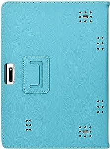 Transwon 10.1 Tablet Case Compatible with ZONKO 10.1, Winsing 10, WECOOL WM1001, Lectrus 10.1, Dragon Touch K10, Hoozo 10, Victbing 10.1, Tagital T10N Plus 10, Veidoo 10.1, FLYINGTECH 10.1 - Blue