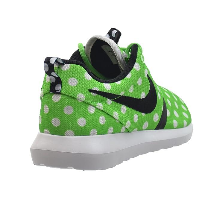 info for 13a66 873f4 Amazon.com   Nike Roshe NM QS Polka Dot Mens  Shoes Green Strike Black-White  810857-300 (10 D(M) US)   Athletic