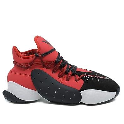 94345f0b8bfdd Y-3 Men s Sneaker Y-3 Byw Bball in Neoprene Rosso E Suede Nero