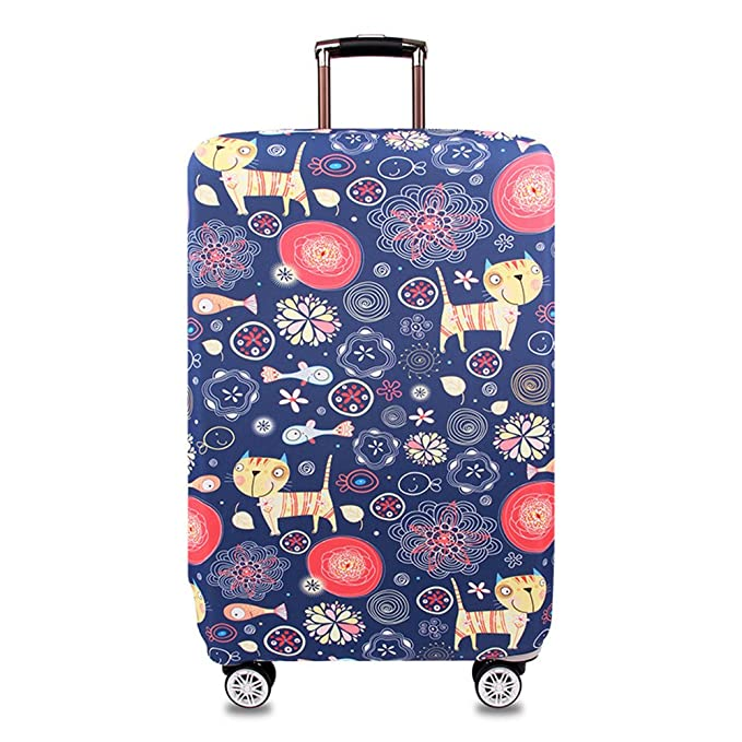 Panda With Balloon In Sky Blue Travel Suitcase Protector Zipper Suitcase Cover Elastic
