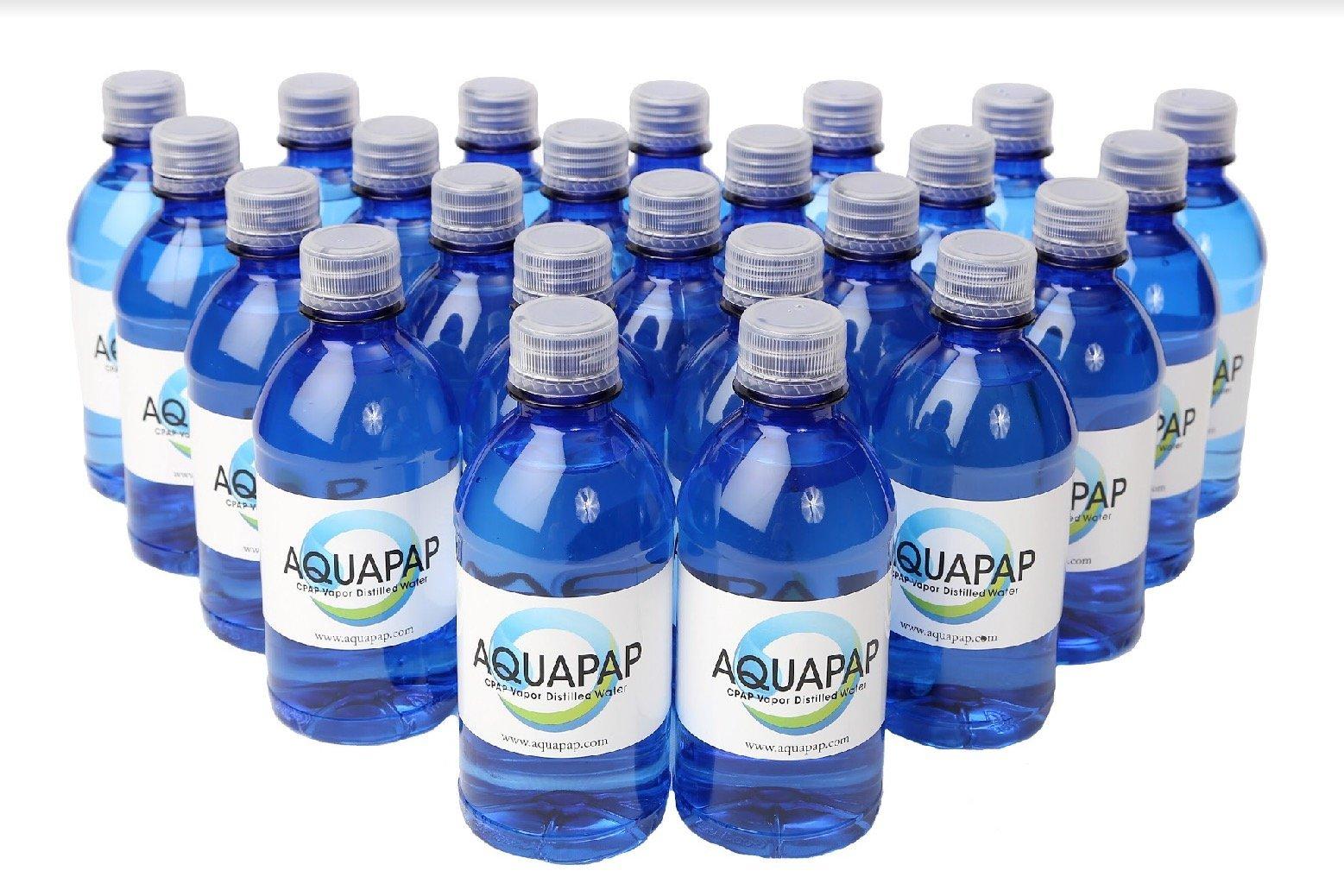 Aquapap Vapor Distilled Water Case of 24 x 12 oz bottles by Aquapap