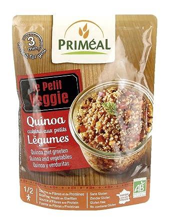 Plato de Quinoa Real, Verduras y Legumbres Priméal 220g: Amazon.es ...