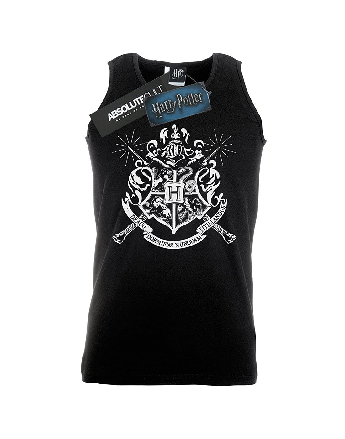 Harry Potter Hombre Hogwarts Badge Wands Tank Top: Amazon.es: Ropa y accesorios