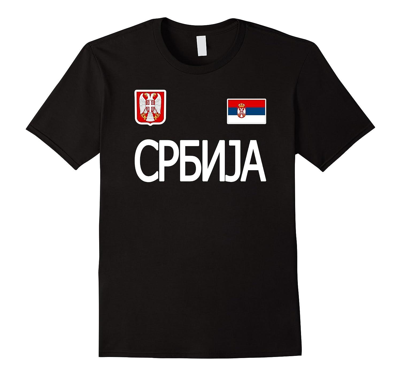 SERBIA T-shirt Serbian Flag Tee Travel Souvenir Cyrillic-Vaci