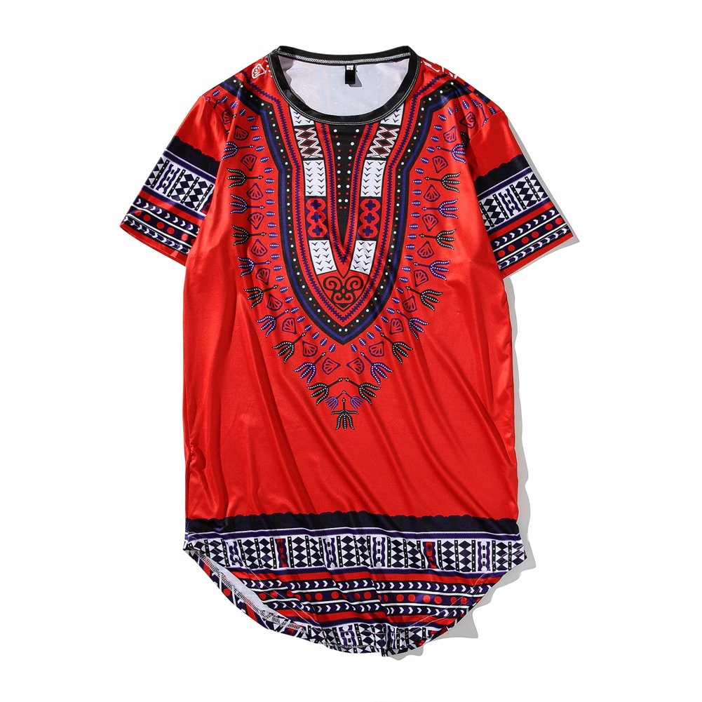 JYG Traditional African Print Unisex Dashiki Polyester Hip-Hop T-Shirt-Available in Several Color Combinations.