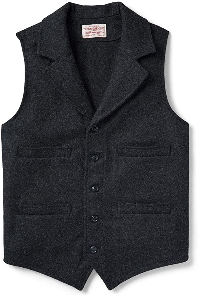 1920s Style Mens Vests Filson Mackinaw Western Vest $195.00 AT vintagedancer.com