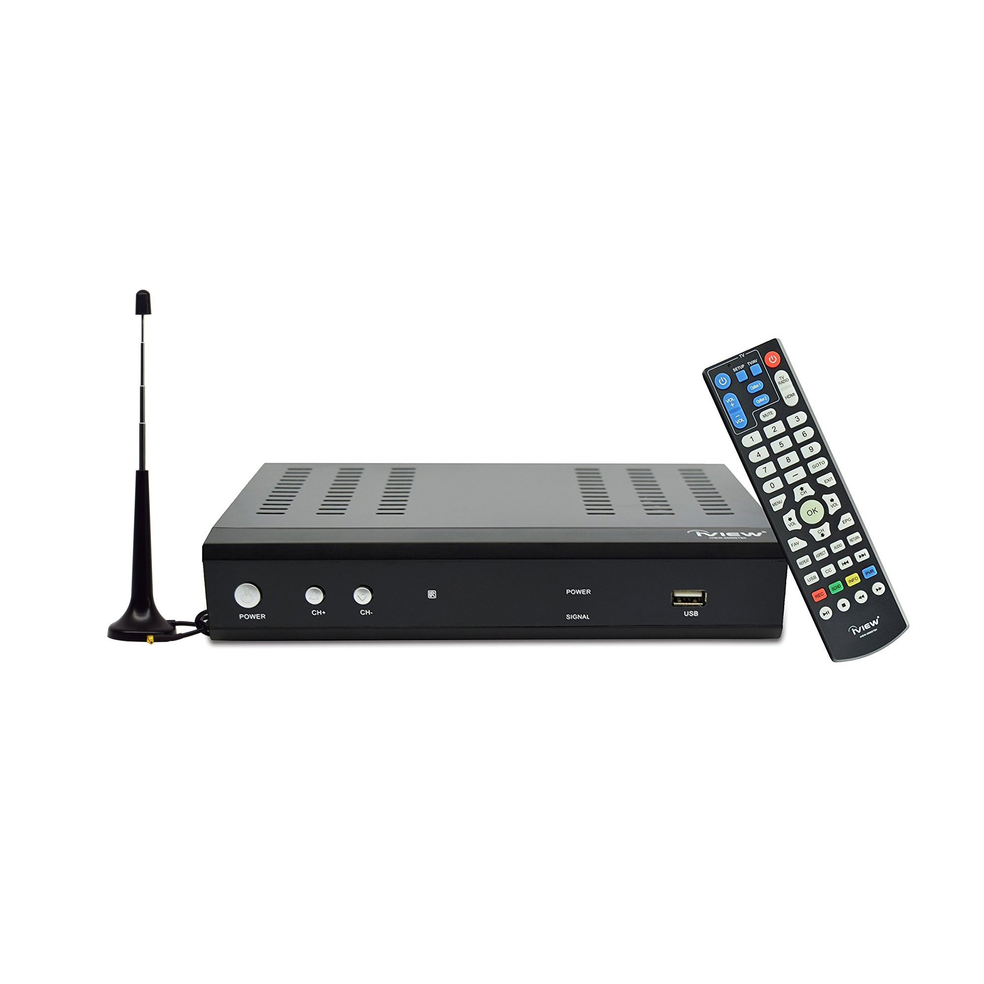 iView Premium Digital Converter Box with Recording, Analog to Digital, ATSC Tuner, QAM Compatible, Channel 3/4, HDMI, USB, Free Antenna Included