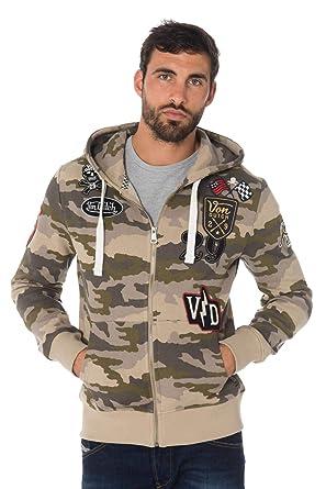 9ab4da2df0a Von Dutch Vondutch - Sweat Zippé à Capuche Homme Billy Camouflage ...