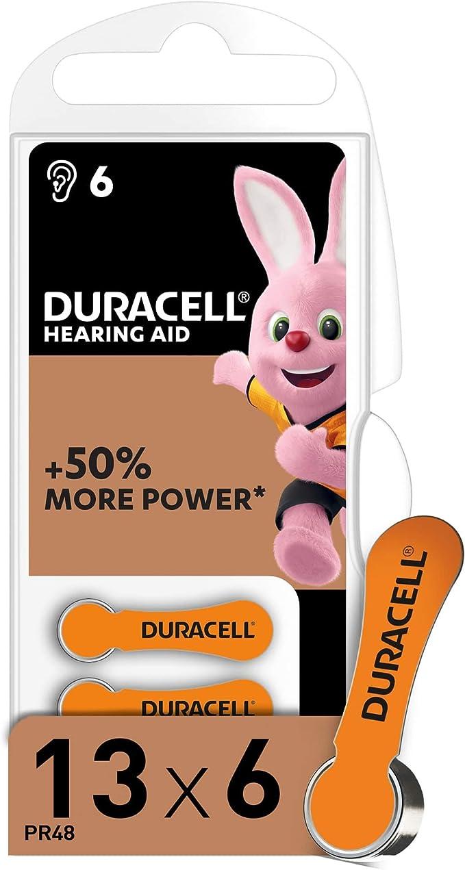 Duracell Hörgerätebatterien Größe 13 6er Pack Elektronik