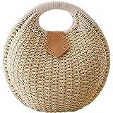 Cunada® Women Hand-woven Straw Shell Clutch Bags
