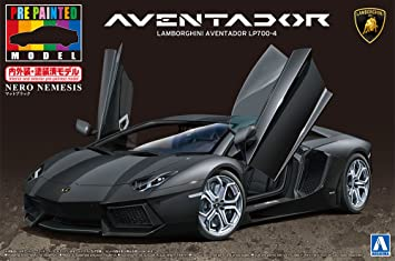 Lamborghini Aventador Lp700 4 Black Prepain Model Kit 1 24