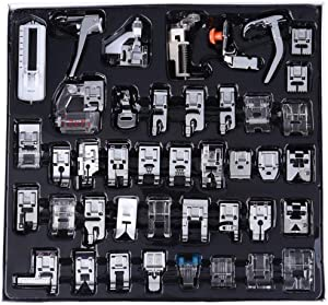 Sewing Machine Presser Foot Feet Kit Set,Fits for Brother, Baby Lock, Singer, Elna, Toyota, New Home, Simplicity, Janome, Kenmore, and White Low Shank Sewing Machine (42pcs)