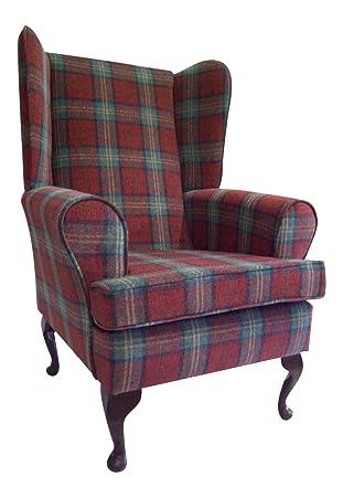 Elegance Estilo de la Reina Anne sillas en un Sol Rojo ...