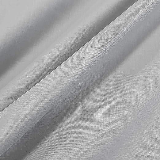 Tela de algodón por metros, color gris claro, 100% algodón ...