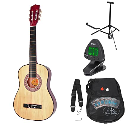 ts Music Fidelity - Guitarra clásica para niños completa con accesorios, con calidad estándar,