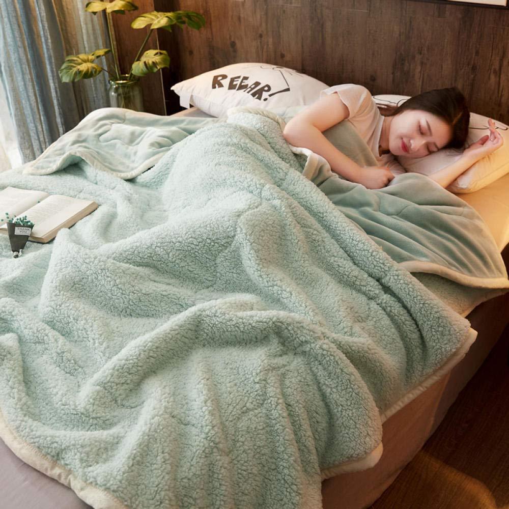 150cm/_E RESUXI Jette des couvertures,/Épaisse Couverture en Molleton Corail Trois couches-100