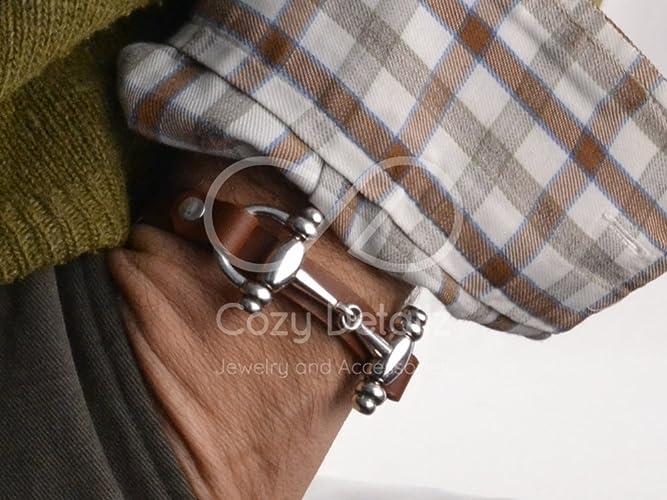 5b3a52cc9a1ff men snaffle bit bracelet, horse bit bracelet, country western ...