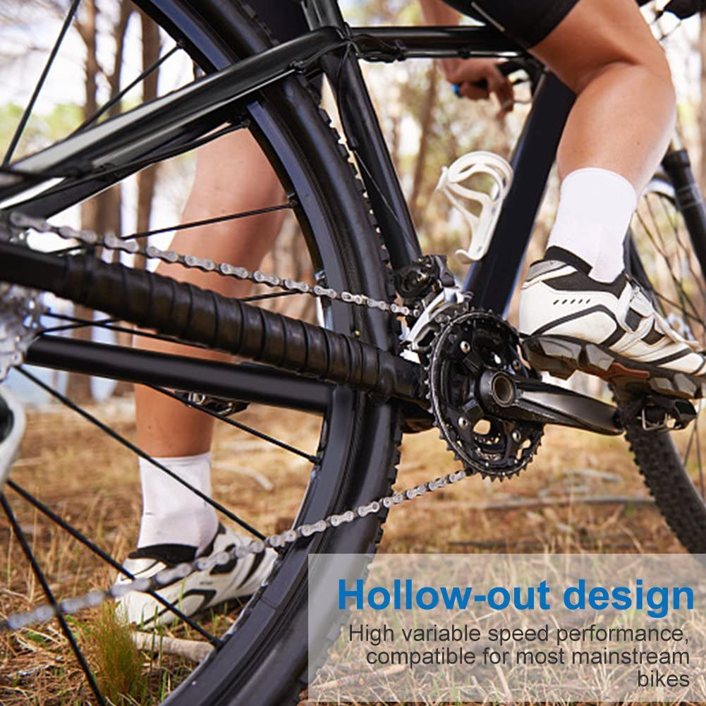 Dilwe V/élo Cha/îne D/érailleur Ultralight antid/érapant 116/pi/èces gauche pour Fixed Gear v/élo Road