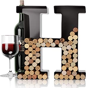 Wine Letter Cork Holder Art Wall Décor ~ Metal Letter Wine Cork Holder Monogram ~ Individual Wine Letter Cork Holders A Thru Z ~ Gifts for Wine Lovers ~ by HouseVines (H)