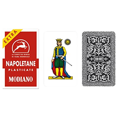Napoletane 97/25 Modiano Regional Italian Playing Cards. Authentic Italian Deck.: Toys & Games