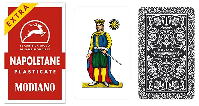 Amazon Napoletane 97 25 Modiano Regional Italian Playing Cards Authentic Deck Toys Games