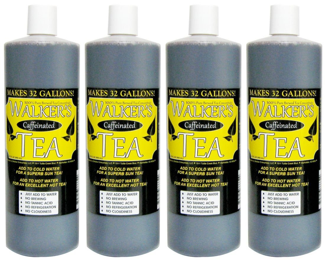 Liquid Tea Concentrate with Caffeine 4-Pack - Makes 128 Gallons!