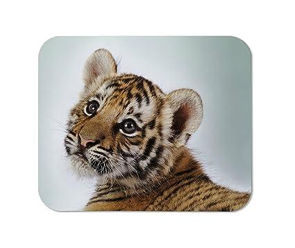 Amazon cute tiger cub mousepad custom rectangular mouse pad cute tiger cub mousepadcustom rectangular mouse pad altavistaventures Images