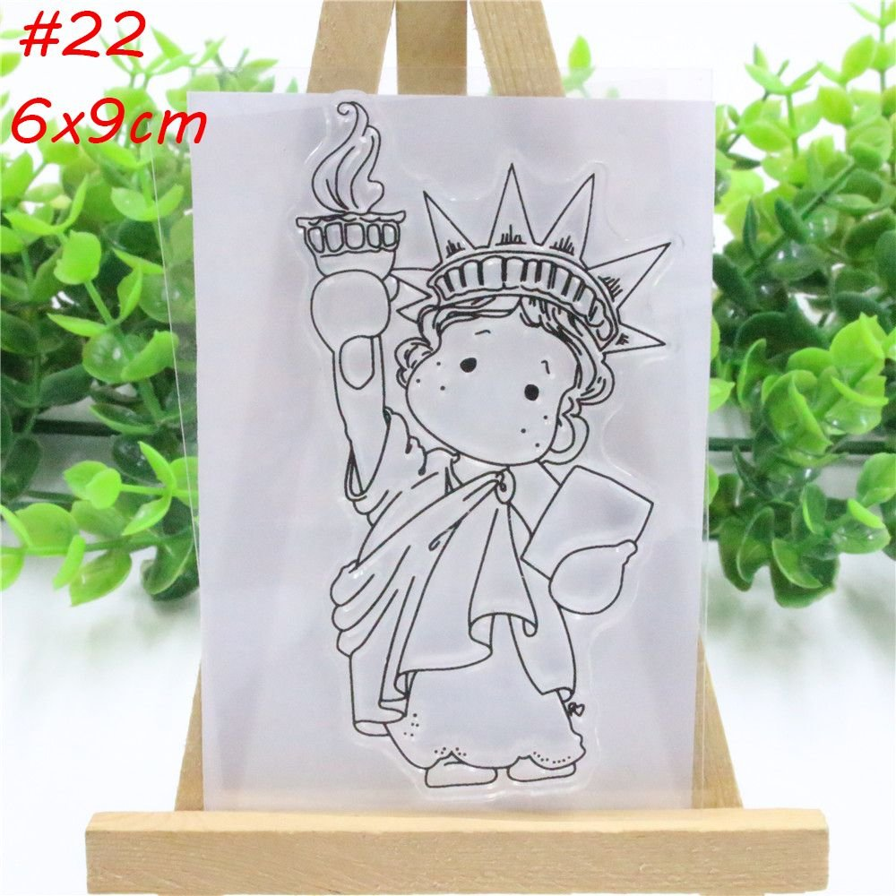 SMALLCHIPINC- Lovely Girls Transparent Clear Silicone Stamp/Seal for DIY Scrapbooking Photo Album Decor Decorative Clear Stamp Crafts (22) SMALL★CHIPINC