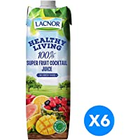 Lacnor Healthy Living Super Fruit Cocktail Juice - Pack of 6 Pieces (6 x 1 Liter)
