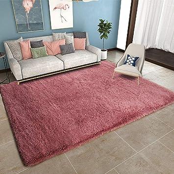 YOH Super Soft Area Rug for Girls Room Nursery Room Rug Fluffy Carpet  Decorative for Living Room Bedrooms (5\'3\'\'x 7\'5\'\',Blush )