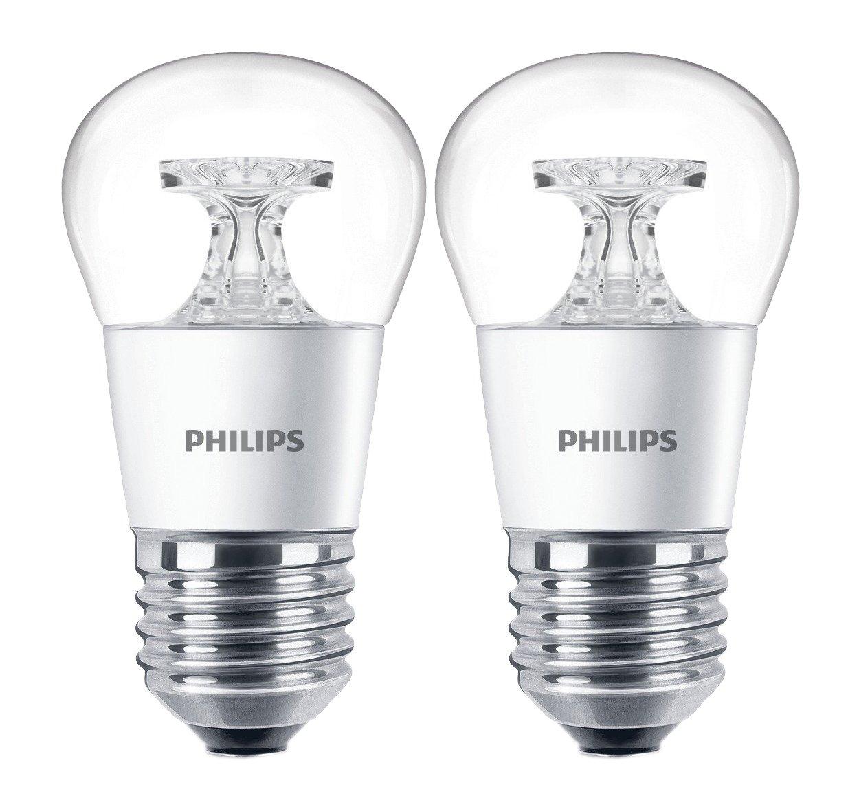 2 x Philips LED Lampe 4W ersetzt 25W, EEK A+, E27, warmweiß (2700 Kelvin), 250 Lumen, klar, 8718696454756