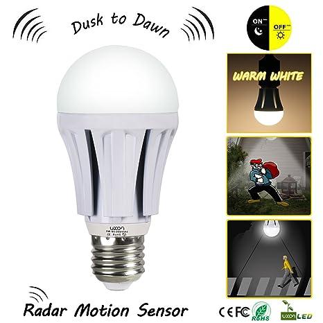 Luces de pared al aire libre con anochecer hasta el amanecer Sensor de movimiento Interruptor Bombillas