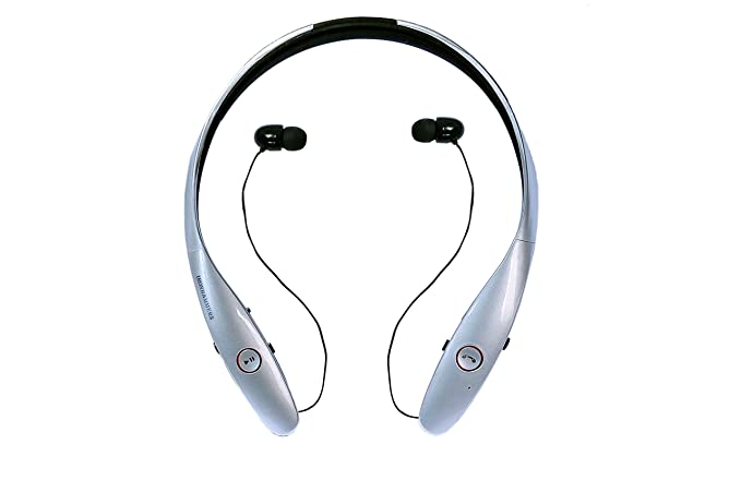 94f1b7c3ab5 Noise Cancelling Sweatproof Neckband Bluetooth Headphones with Retractable Earbuds  Best Headphones with Microphone IRONHAMMERS 900,
