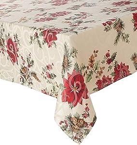 Food Network Juniper Berry Christmas Tablecloth Fabric Table Cloth 60x102 Ob