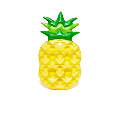 SunnyLife Women's Inflatable Pineapple Drink Holder, Yellow, One Size: Clothing