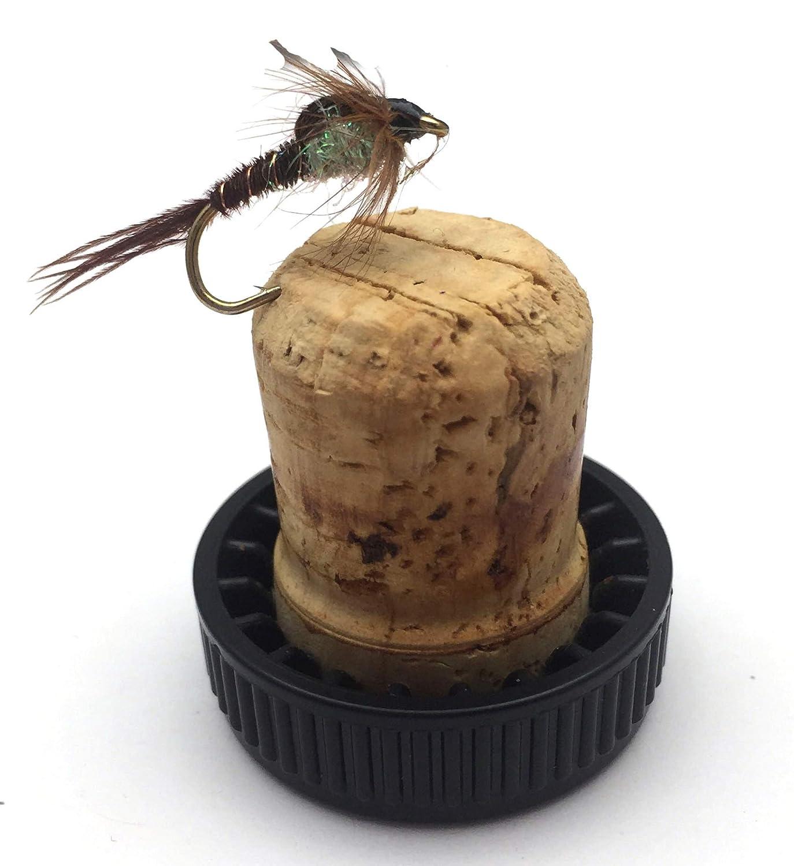 Lot de 12 mouches de p/êche /à la mouche Nymphes /à queue de faisan traditionnelles avec perles Tailles 10-14 Lot n/°19