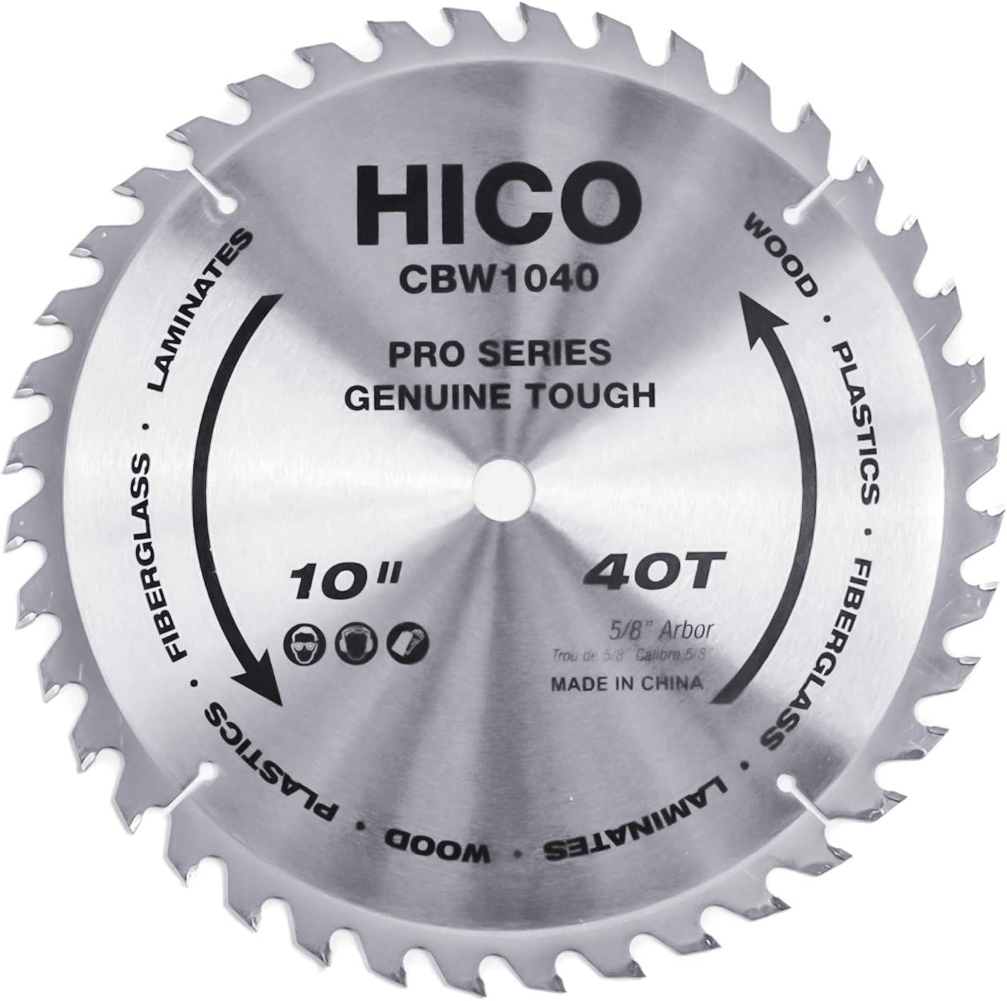 6. HICO 40-Tooth ATB Table-Saw Blade