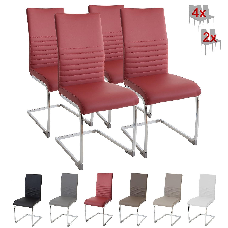 Set di 2 sedie cantilever Burano Albatros con certificazione SGS imbottite colore: Bianco